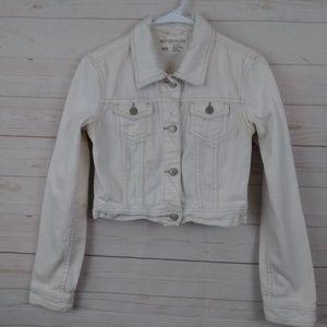 Aeropostale Girls Cream Jean Jacket Medium